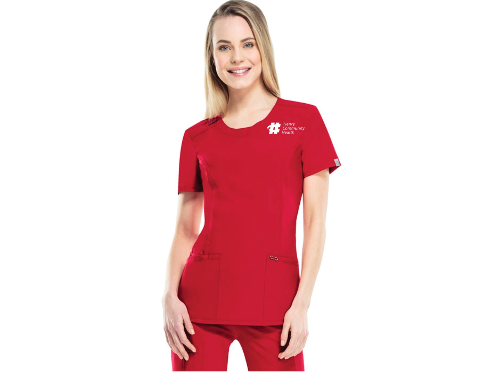 top infinity neck cherokee pin less uniforms by round